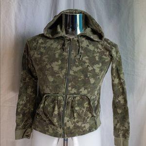 DKNY women's Large Camouflage Zip Up Hoodie